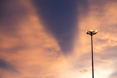 Himmel nach Sonnenuntergang Stockfotografie