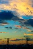 Himmel nach Taifun stockfotografie
