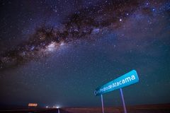 Himmel-Nacht in San Pedro de Atacama lizenzfreie stockfotos