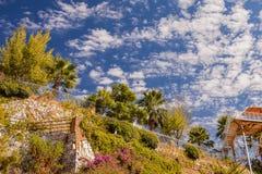 Himmel och berg på utkanten av Marmaris Turkiet arkivbilder