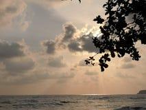 Himmel och hav i Koh Chang Thailand royaltyfri fotografi