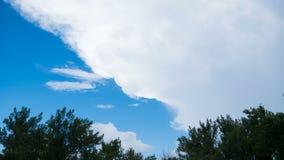 Himmel och moln, tidschackningsperiod stock video