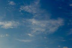 Himmel- och molnbakgrunder Royaltyfri Foto
