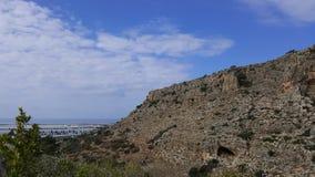 Himmel och vaggar landskap, det medelhavs- naturlandskapet, den Carmel nationalparken Arkivfoto