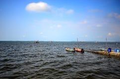 Himmel och vatten av havet Royaltyfria Bilder