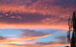 Himmel på skymning Arkivfoto