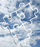 Himmel-Puzzlespiel-Foto-Hintergrund Lizenzfreie Stockfotos