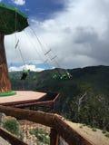 Himmel-Schwingen in Colorado Stockfoto