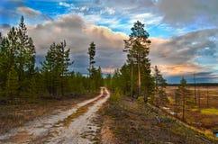 Himmel in Sibirien Lizenzfreie Stockbilder