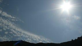 Himmel & sol Arkivfoton