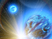 Himmel stars Planetenerde Stockfotos