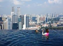 Himmel-Swimmingpool Stockfotos
