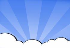 Himmel-Tapete stock abbildung