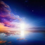 himmel till långt Fotografering för Bildbyråer
