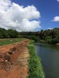 Himmel trifft den Fluss Lizenzfreies Stockfoto