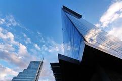 Himmel und Glas Stockfotografie