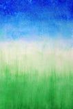 Himmel und Gras, abstrakter Hintergrund des Aquarells Lizenzfreie Stockfotografie