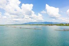 Himmel und Meer am Fischer Village Stockfotografie