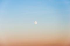 Himmel und Mond Lizenzfreies Stockfoto