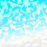 Himmel und Schnee Stockfotografie