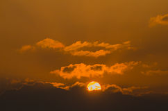 Himmel und Sonne Stockbild