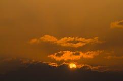 Himmel und Sonne Stockfotos