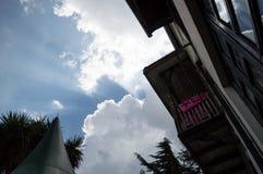 Himmel und Sonnenstrahl, Addis Ababa, Äthiopien Stockfotos