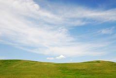 Himmel und Wiese Stockfoto