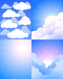 Himmel und Wolken vektor abbildung