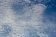 Himmel-und Wolken Hintergründe Lizenzfreies Stockfoto