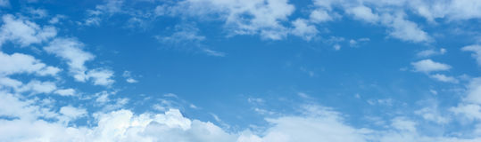 Himmel-und Wolken-Panorama Cloudscape Stockfotografie