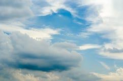 Himmel- und Wolkenhintergrund Lizenzfreies Stockfoto