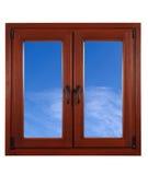 Himmel vom Fenster Stockfoto