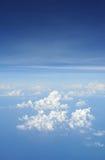 Himmel vom Flugzeug Lizenzfreie Stockfotografie