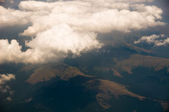 Himmel vom Flugzeug Stockfotografie