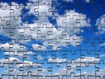 Himmel vom Puzzlespiel stockfotografie