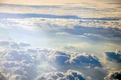 Himmel von den Flugzeugen Stockfotografie