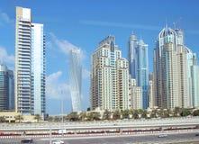 Himmel von Dubai stockfoto