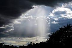 Himmel vor dem Regen Stockbild