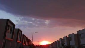 Himmel vor Sturm Stockbild