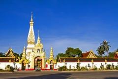 Himmel vorderer Wat Phra That Phanom Lizenzfreie Stockbilder
