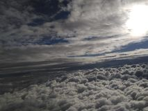 Himmel, Wolken, Land, Sonne Lizenzfreies Stockbild