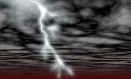 Himmel-Wolken und Blitz Stockbild