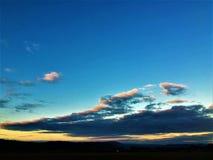 Himmel, Wolken und Sonnenuntergang Lizenzfreies Stockbild