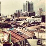 Himmelansicht von Penang-Stadt Malaysia Lizenzfreie Stockbilder