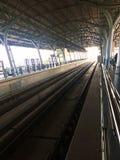 Himmelbahnstation mit Morgenlicht Lizenzfreies Stockbild