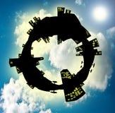 Himmelblau in der Stadtwelt Stockfoto