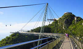 Himmelbro på den Langkawi ön Royaltyfria Foton
