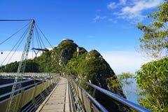 Himmelbro på den Langkawi ön Arkivfoton