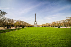 HimmelEiffeltorn Paris Frankrike Royaltyfri Bild